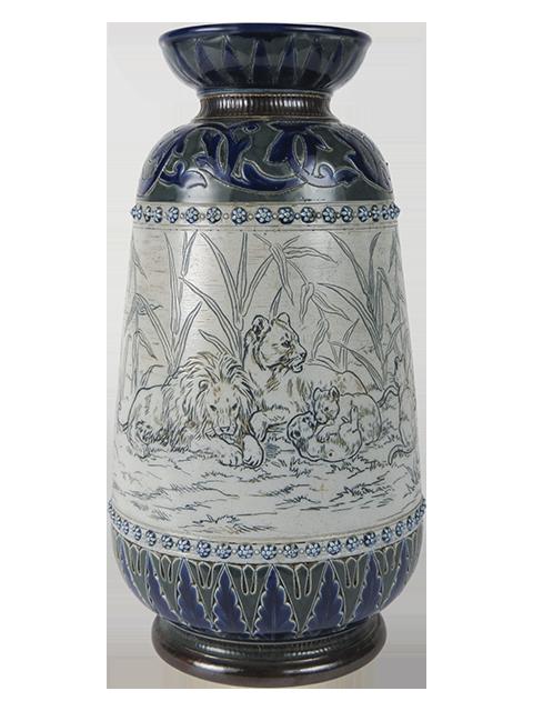 002766 Doulton Lambeth Stoneware, Hannah Barlow 1877