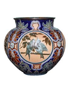 005446 Doulton Lambeth Pottery Florence Barlow c.1890