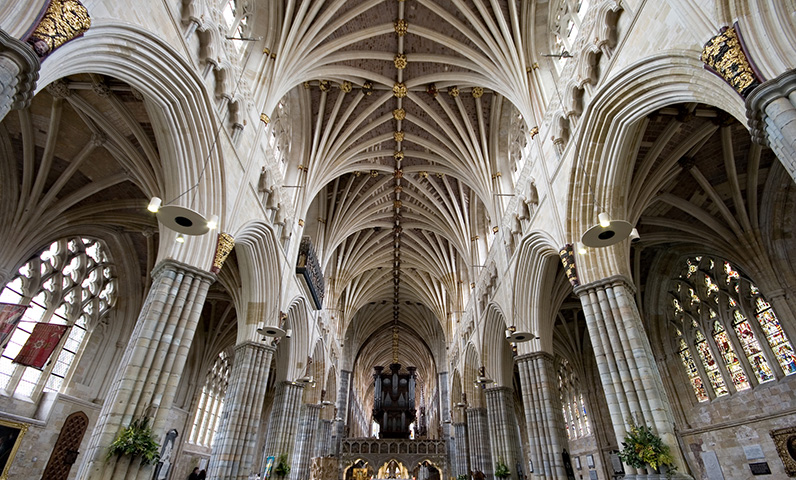 Cathedral Church of Saint Peter in Exeter, Devon UK