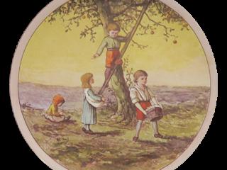Doulton Lambeth Faience Apple Picking L Watt c.1875