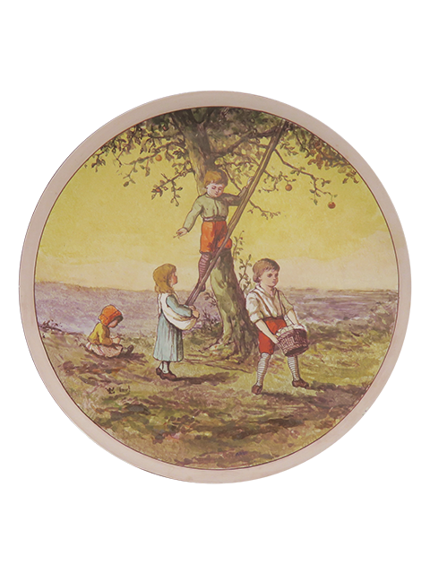 Doulton Lambeth Faience Apple Picking L Watt c.1875