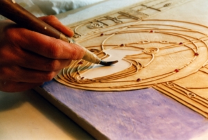 Painting a gesso panel