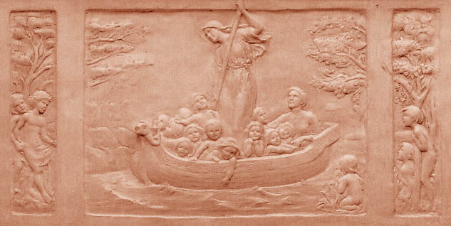 Patience and Hope steering the Boat of Education by Ellen Maey Rope