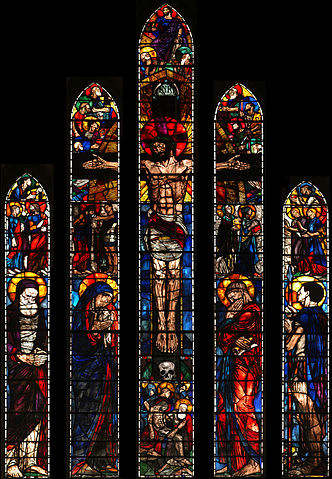 Stained glass windows created by Geddes for St. Lukes Church