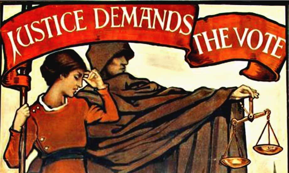 Suffrage poster, 1909