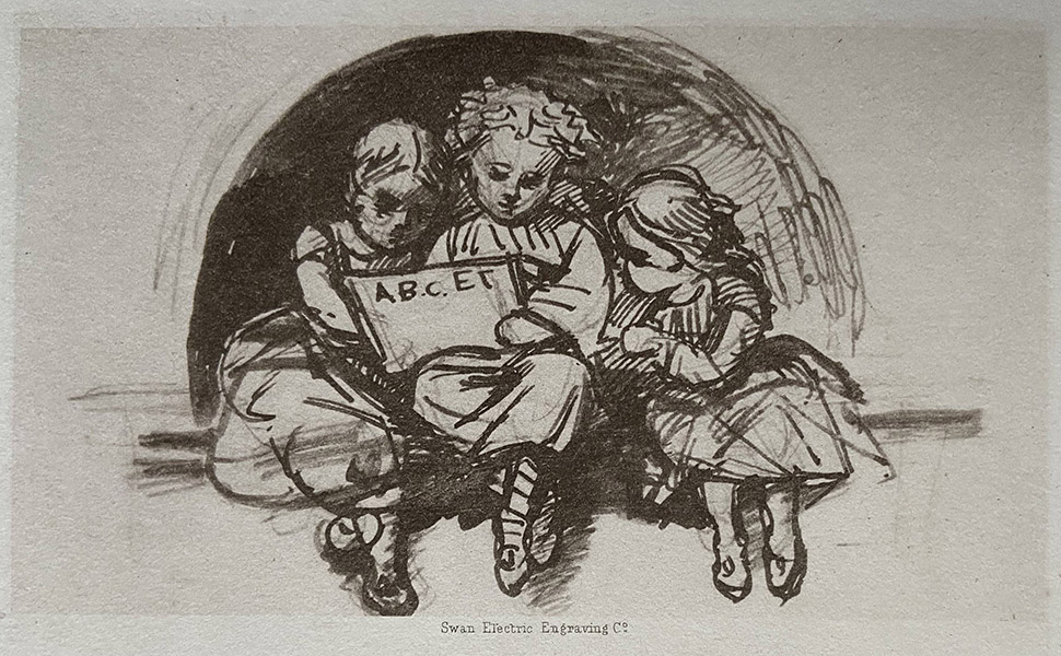 'Three Children' from Louisa Waterford's notebook.