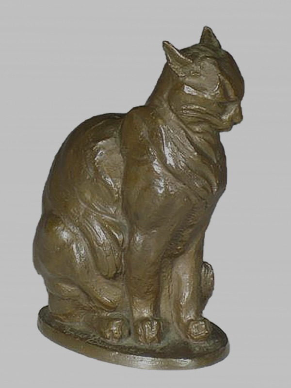 A Bronze Cat by Phyllis Bone