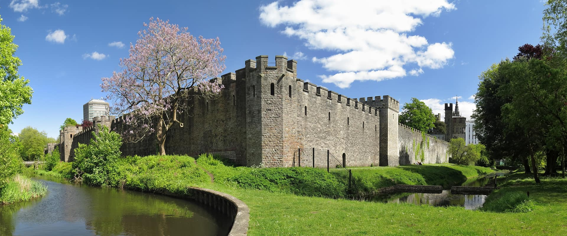 Cardiff Castle - View from the Park