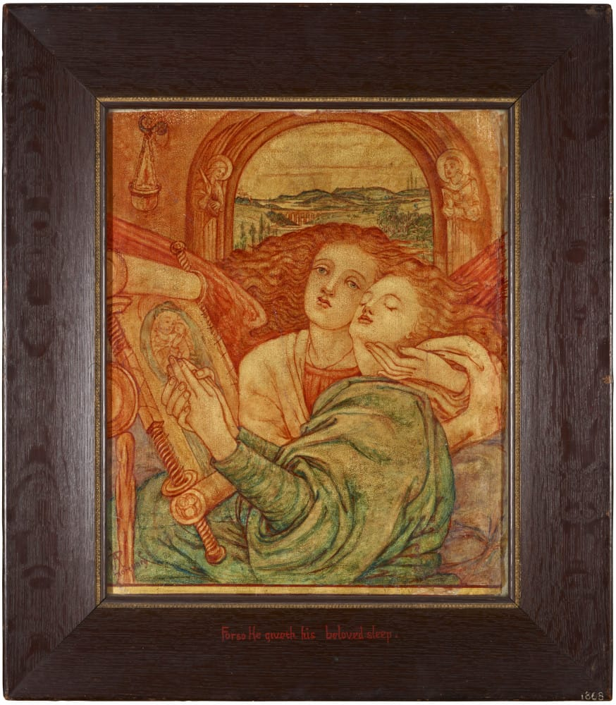 'For So He Giveth His Beloved Sleep'. Original Mural Fragment from the Mortuary Chapel, the Royal Hospital for Sick Children, Edinburgh.