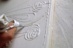 Gesso preparation on wooden panels