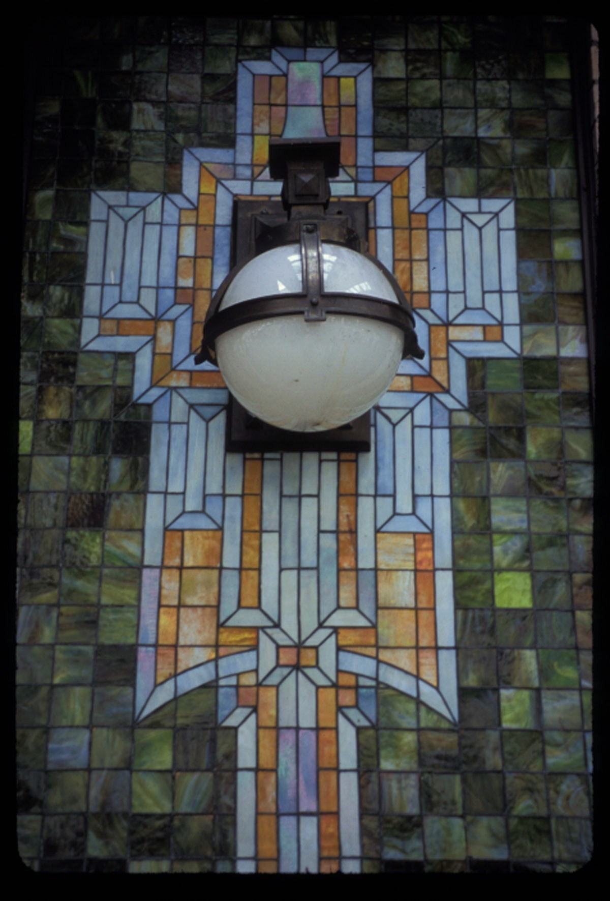The Edward Bruns Secessionist stained glass mosaic for the Seward Hotel