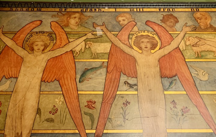 View of East Wall by Phoebe Anna Traquair within the Mortuary Chapel at the Royal Edinburgh Hospital for Sick Children
