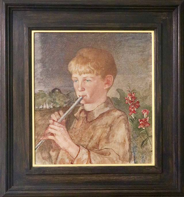 Phoebe Anna Traquair - Study of a Boy Playing a Pipe