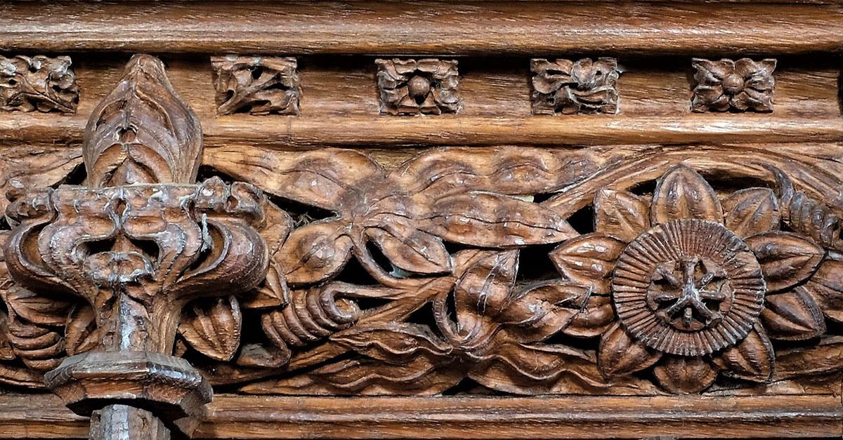 Detail of Pulpit at Ermington, Devon