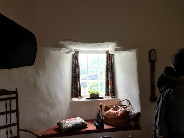 Curved Window at Stoneywell