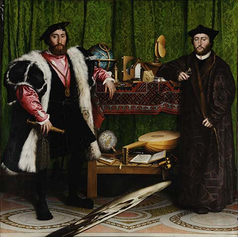 The Ambassadors painting by Hans Holbein the Younger (1533)