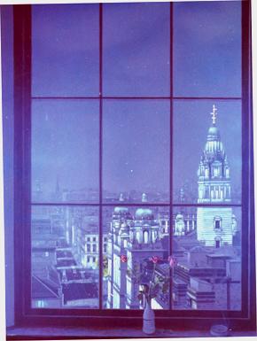 Trompe L'oeil window scenes of Glasgow